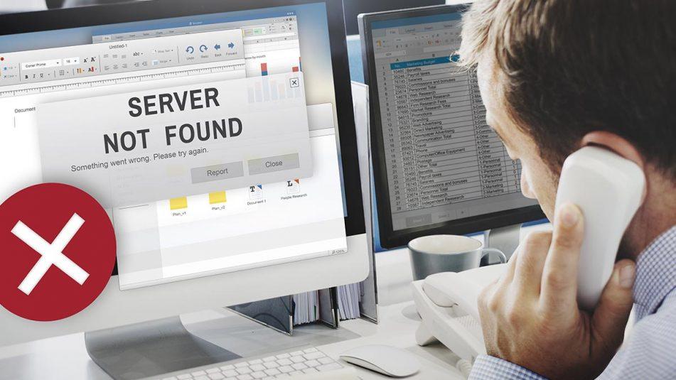 Un error o fallo informático causa una interrupción del servicio en una PYME