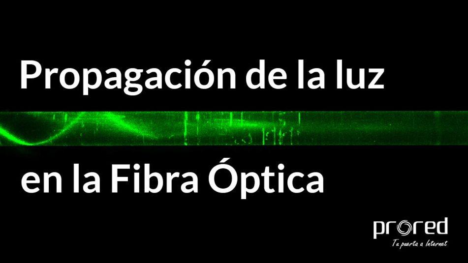 Propagación de la luz en la fibra óptica