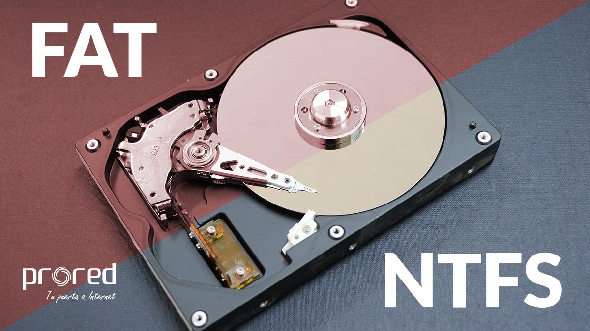 NTFS o FAT qué sistema elegir